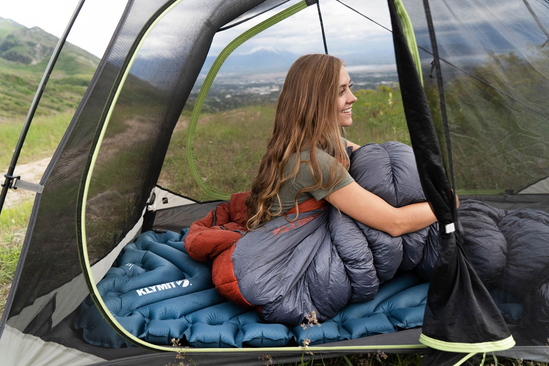 Factory Refurbished Klymit Static V2 Sleeping Camping Air Pad Ultra-Light