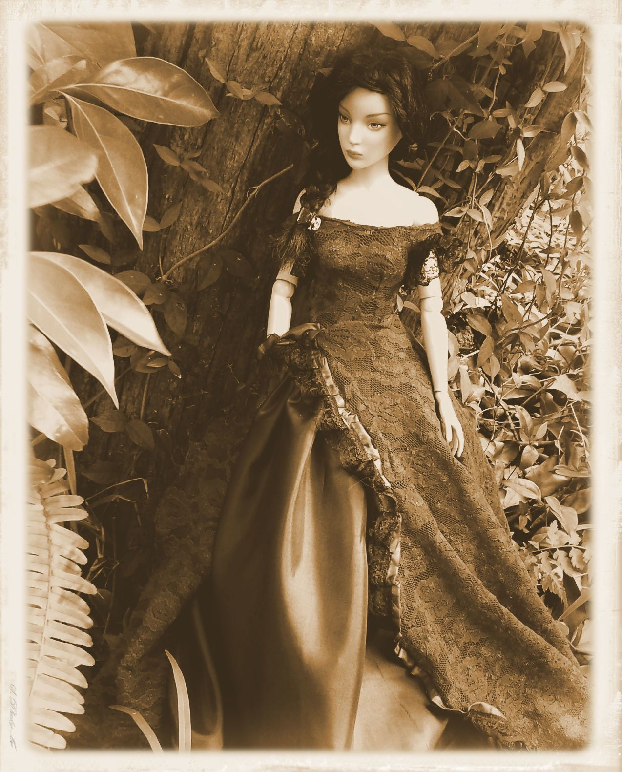 full length petticoat crinoline barbie FR White 1//6 doll size