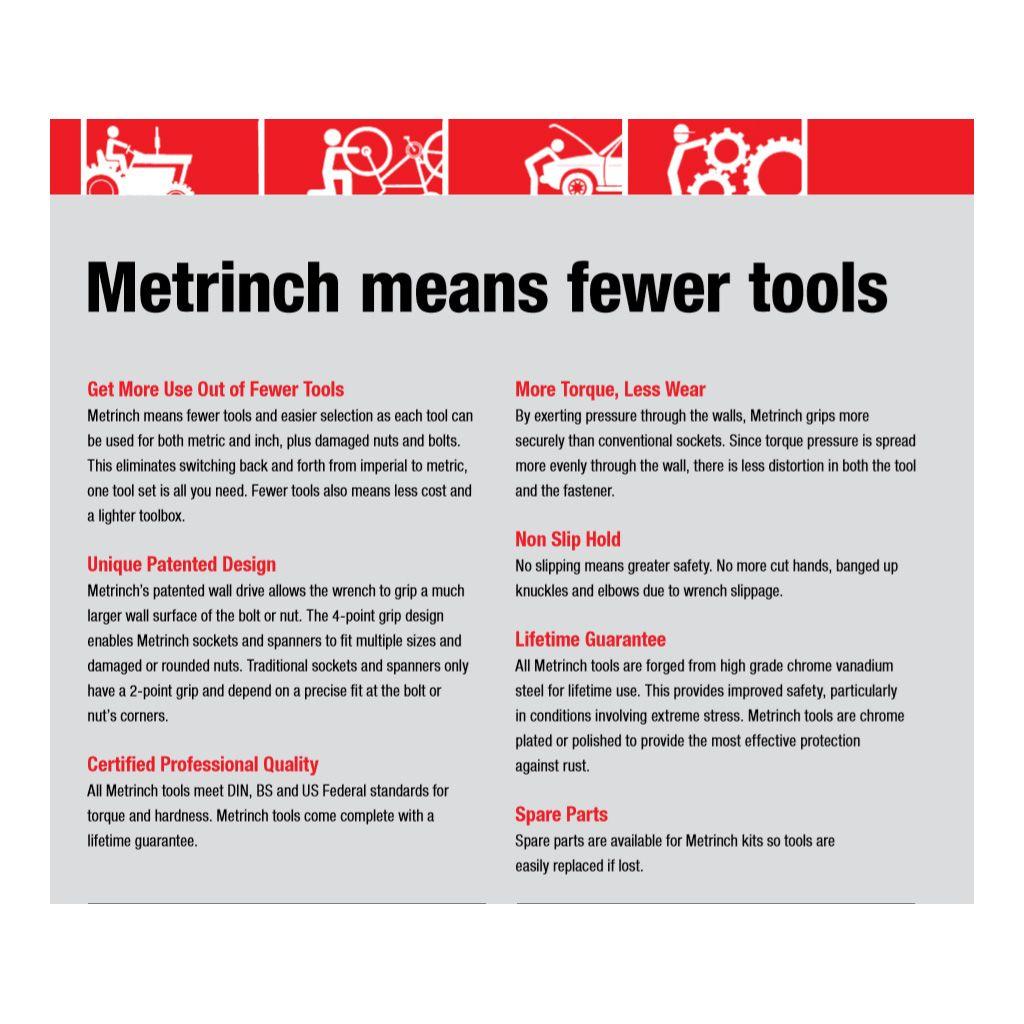 "Metrinch Impact Socket Standard 21mm 13//16/"""